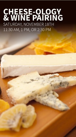 Cheese-ology Event- Cheese & Wine Pairing