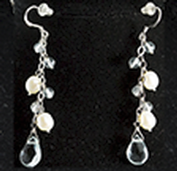 Jewelry Long Pearl Grape Earring