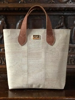 Marilu Cork Purse - Winter White