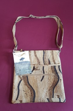 Cross Shoulder Cork Purse - Vivian Image