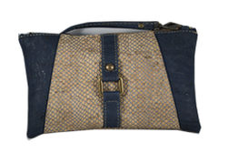 Braga Cork Purse - Blue Image